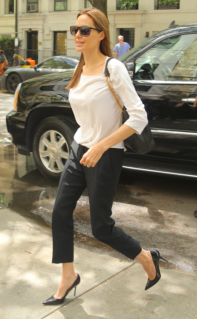 Street Style Angelina Jolie.