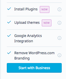 WordPress.com business install plugins and themes new
