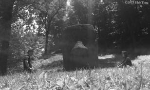 Easter Island head BW