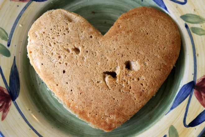 Whole Wheat Heart Pancake