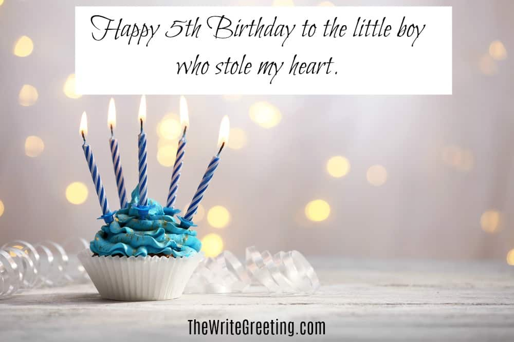 Happy 5th Birthday Greetings Guarantee Smiles The Write Greeting