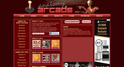 موقع Anatomy Arcade