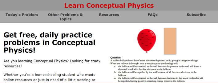 موقع Learn Conceptual Physics
