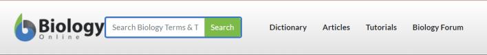 موقع Biology Online أحد مواقع تعليم الاحياء بالانجليزي