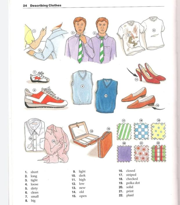 تعلم وصف الملابس في The New Oxford Picture Dictionary