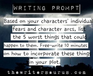 character driven writing prompt