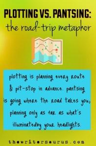 plottig vs. pantsing roadtrip metaphor