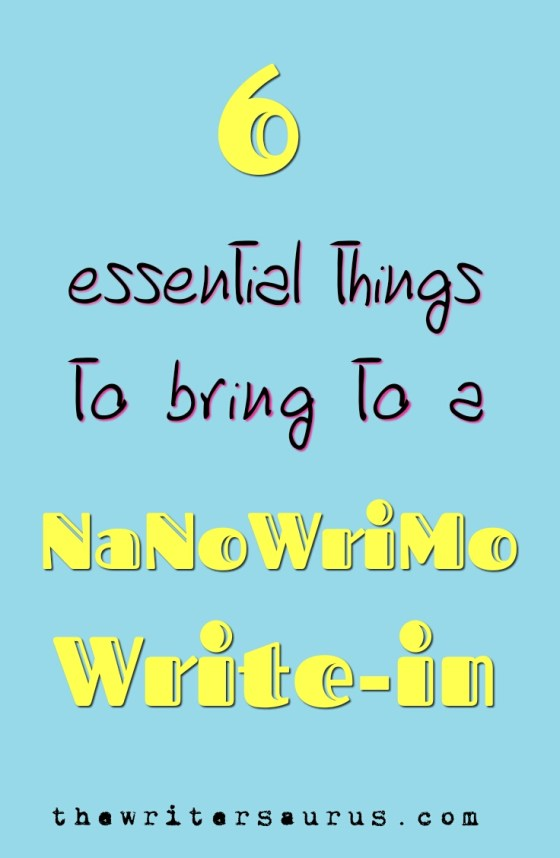 things to bring to a nanowrimo write in