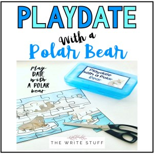 Playdate with a polarbear