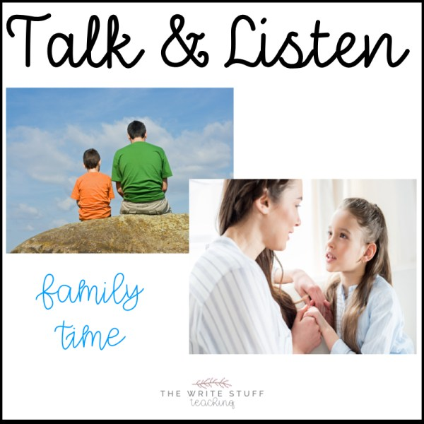 Talk and listen with your child to build oral language and listening skills in order to develop your child's creativity
