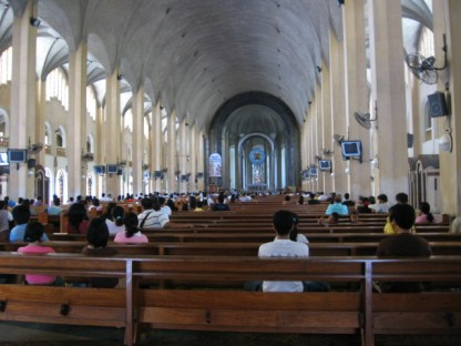 Baclaran Church - A view of the altar from the back.