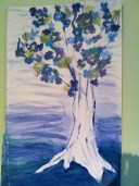 a picture my youngest painted for me because i love trees
