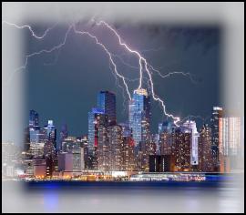 Thunderstorm lightning storm damage