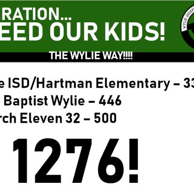 Feeding Kids in Need, The Wylie Way!