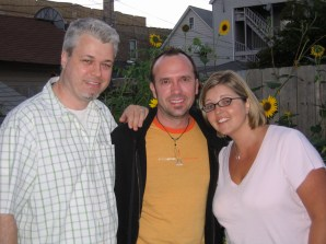 With our friend Cheryl in our back yard. 2007
