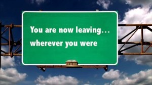 You are now leaving...