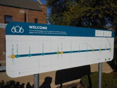 606 Sign will show you where you are.