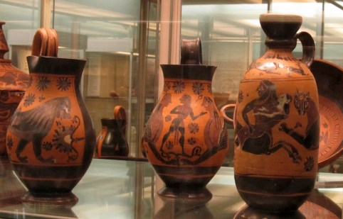 Grecian pottery at the British Museum