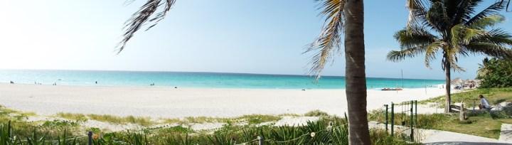 Gorgeous white-sand beach in Varadero, Cuba