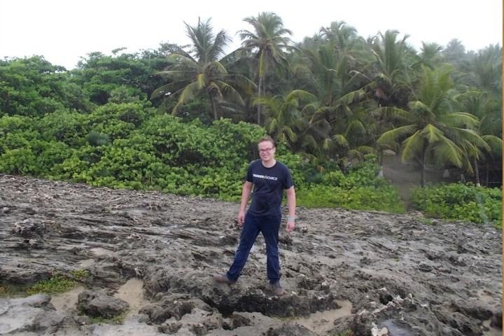 jungle and lava rocks in puerto rico