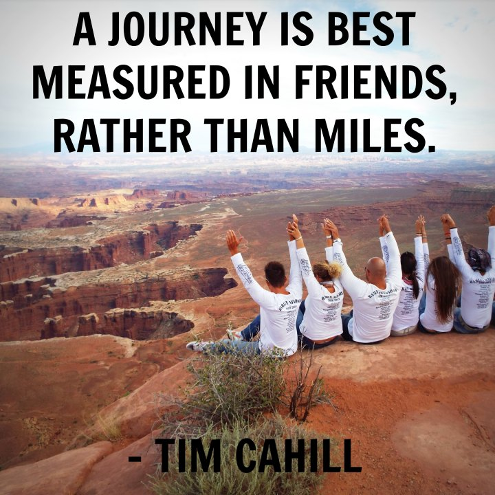 A journey is best measured in friends, rather than miles. - Tim Cahill