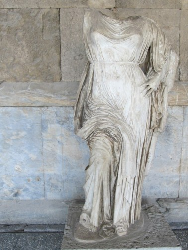 Sculpture at Stoa of Attalos
