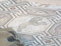 Tile mosaic, Delphi, Greece