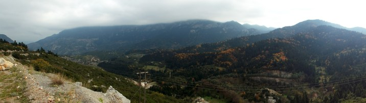 Panorama in mountains near Delphi