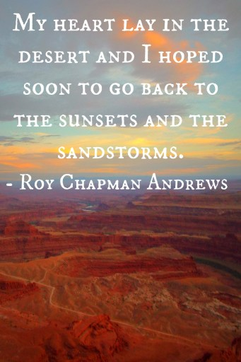 Roy Chapman Andrews quote from Under a Lucky Star