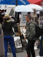 Artist's Market in Montmartre