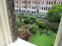 Garden of the Ridgemount Hotel, London