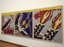 "I finally got to see a Roy Lichtenstein! This is ""As I Opened Fire"""