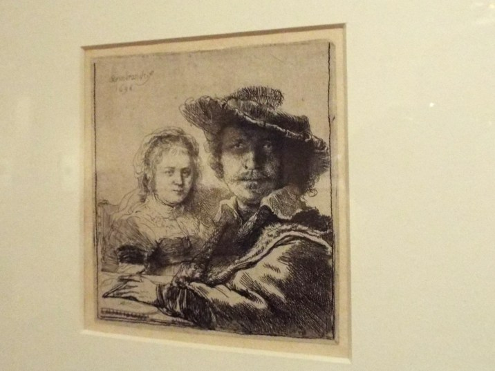 The Rembrandt House also had a lot of etchings by Rembrandt, including this one of him and his wife