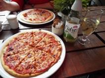 Margherita pizza at Bella Italia