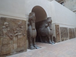 Winged human-headed bulls at the Louvre
