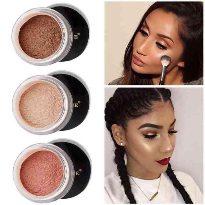 Shimmer makeup