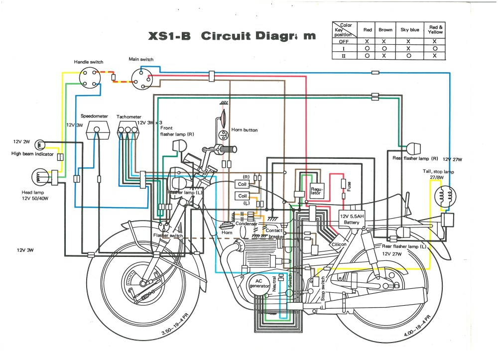XS650: 71 XS1B Wiring Diagram | thexscafe