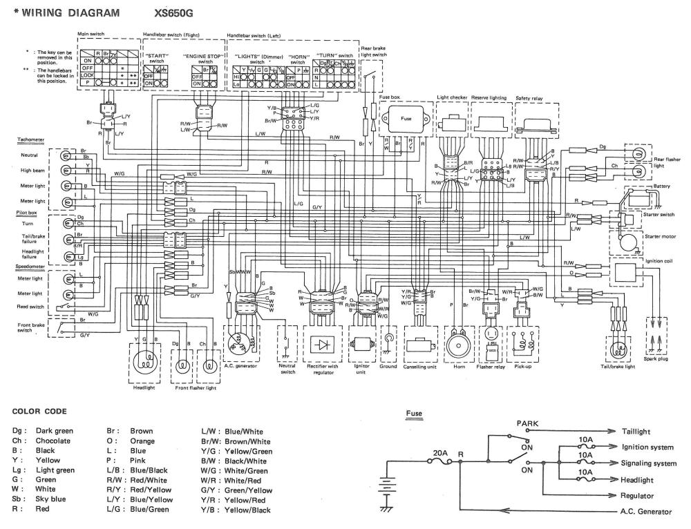XS650: 80 XS650G and SG Wiring Diagrams | thexscafe