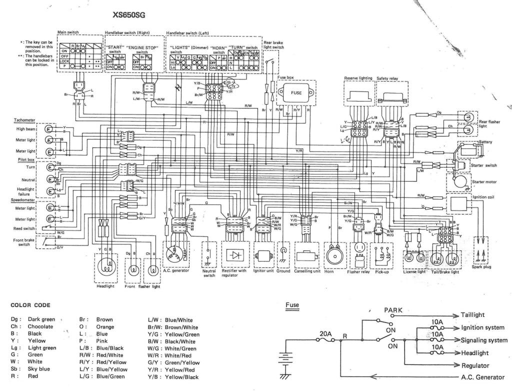 XS650: 80 XS650G and SG Wiring Diagrams | thexscafe