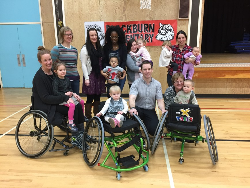 Canadian author, L.A. Fielding, donates two sports wheelchairs in Prince George, BC.