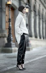 TREND_INSPIRATION_LEATHER_BAGGY_SWEATPANTS_THEXTYLE_ SS-2014_WHITE