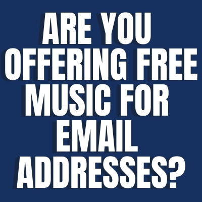 Music for email addresses