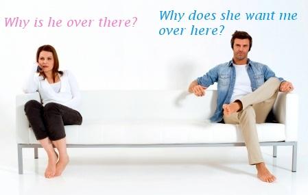 Opposite ends of the couch © Ambro | freedigitalphotos.net