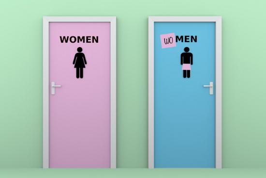 Men's room changed to women's room © Alfonso de Tomás  dollarphotoclub.com