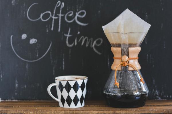 Pour over coffee maker and mug