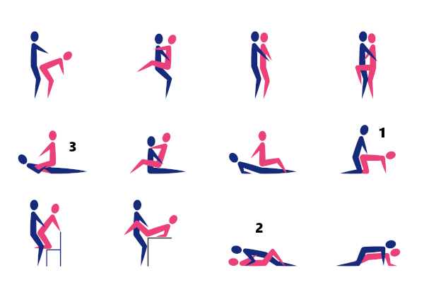 Cartoon Showing Different Sex Poses or Positions