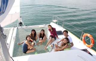 Adults are welcome on board this beautiful boat
