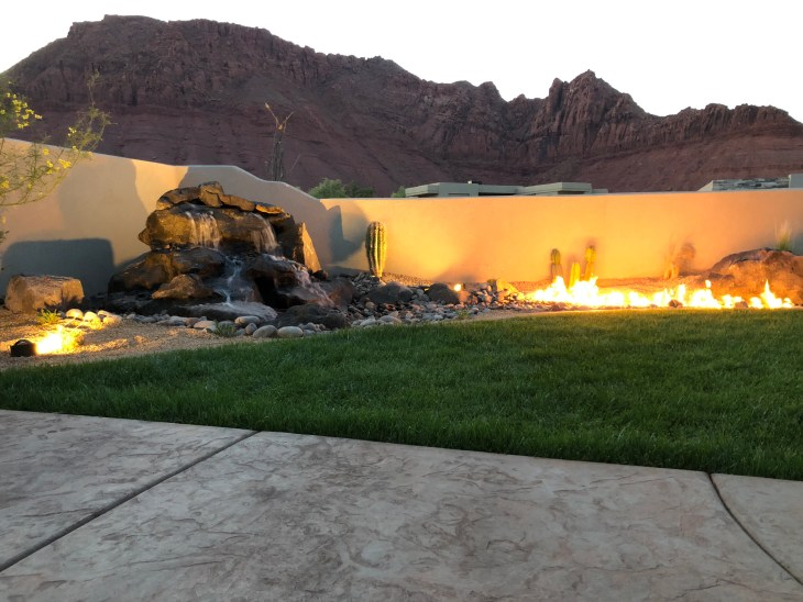 water feature and fire feature