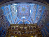 View from inside the church near the Romanov memorial. Lots of impressive and ornate art!