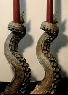 Bronze Finish Tentacle Candleholders